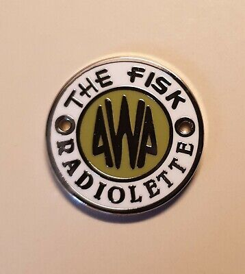 Green Awa Radiolette badge new! In now These are the historically correct ones !