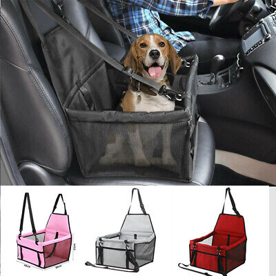 Cute Large Car Seat Carrier Cat Dog Pet Puppy Travel Cage Booster Belt Bag UK