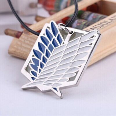 Anime Attack on Titan Scouting Legion Cosplay Pendant Necklace Prop Toy Gift