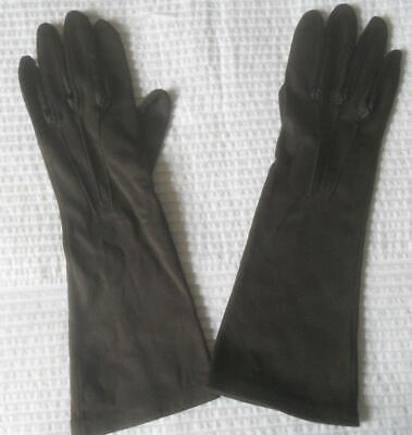 Pr Vintage 1960S Dents Made England Mid Forearm Dark Brown Gloves 7