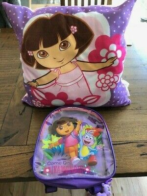 Dora: Pillow, Dressing Gown (Size 6) and back pack