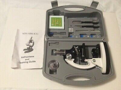 AMSCOPE 120x-1200x COMPOUND MICROSCOPE STARTER M30-ABS-KT1