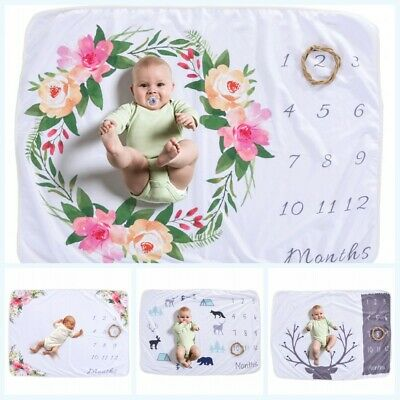 Rug Photography Monthly Background Props Backdrop Infant Milestone Baby Blanket