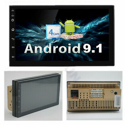 "Android 9.1 Universal 2 Din 7"" Auto Stereo Radio GPS Wifi Touch Screen Quad-Core"