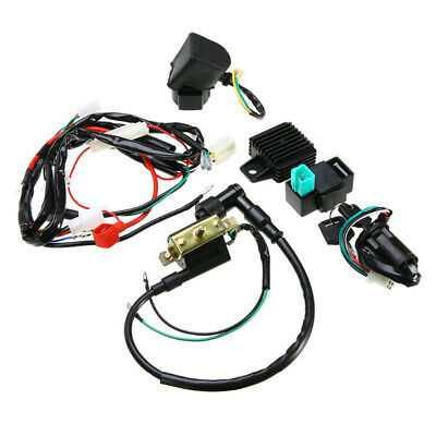 Wiring Harness Ignition Shell Accessories Kit Motorcycle Coil Rectifier
