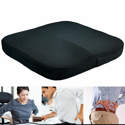 Seat Cushion Soft Memory Foam Pressure Relief Wheelchair Back Pain Orthopedic