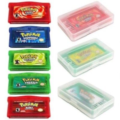5x Game Card Fire/Leafgreen/Emerald/Ruby/Sapphire Version For GBA Game