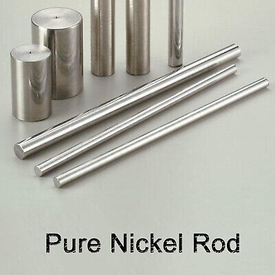 Pure Nickel Ni Round Bar Rod For Electroplating Anode Element 100mm-300mm Length
