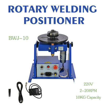 """50HZ 10KG Table Rotary Welding Positioner Turntable Mini 2.5"""" 3 Jaw Lathe Chuck"""