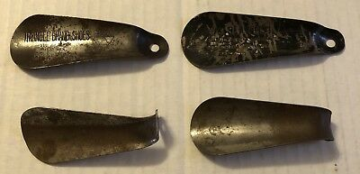 Vintage Shoe Horn Metal Lot Wolslayers Triangle Brand shoes R1