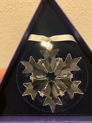 Swarovski Crystal 2018 ANNUAL EDITION LARGE SNOWFLAKE CHRISTMAS ORNAMENT NIB