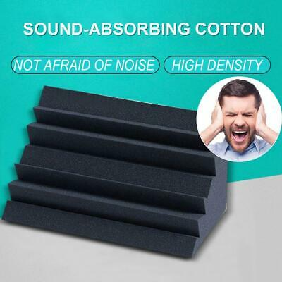 Soundproof Acoustic Sound Insulation Stop Absorption Studio-Foam Sponge-Black