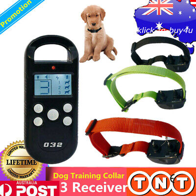 Remote Dog Training Collar Anti Bark Stop Barking Dog Collar Training 3 Receiver