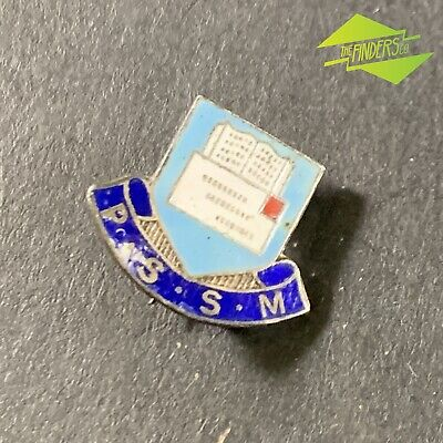 VINTAGE c.1940's P.S.S.M ENAMELLED BADGE SCHOOL? UNIVERSITY ANGUS & COOTE SYDNEY