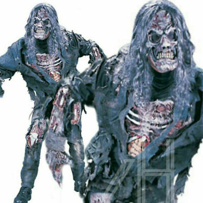 Adult Halloween Complete Zombie + Mask Fancy Dress Horror Costume Mens Outfit UK
