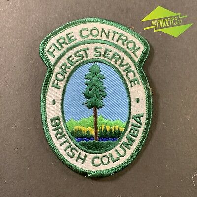 Vintage British Columbia Forest Service Fire Control Embroidered Patch