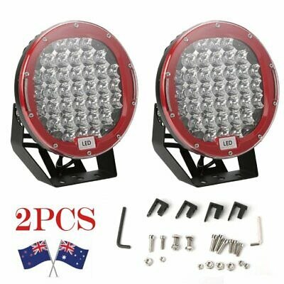 Pair 9inch 99999W Round Black LED Driving Lights Off Road 4x4 Spotlights Light