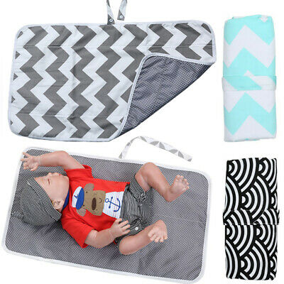 Breathable Baby Waterproof Foldable Diaper Travel Changing Mat Storage Portable