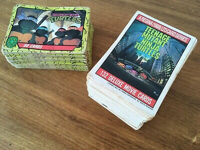 1988/1989 Teenage Mutant Ninja Turtles Cards Full Sets of 132 Movie + 88 Cartoon