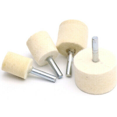 20-40mm Wool Felt Polishing Bobs Burr Buffing Point Wheel 1/4'' Shank for Drill