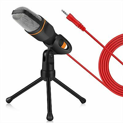 PC Studio Pro 3.5mm Condenser Microphone Recording Broadcasting MIC with Stand