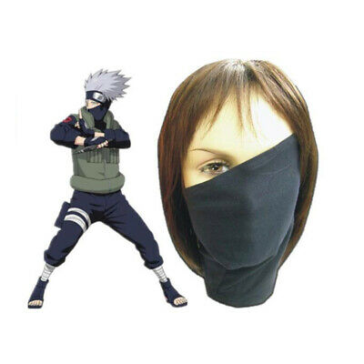 Anime Naruto Kakashi Veil Mask Cosplay Costume Halloween Accessory Prop Gift
