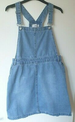 New look denim dungaree pinafore dress excellent condition size 12