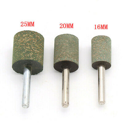 16/20/25mm Cylinder Abrasive Rubber Polishing Burr Mounted Point 6mm Shank Drill