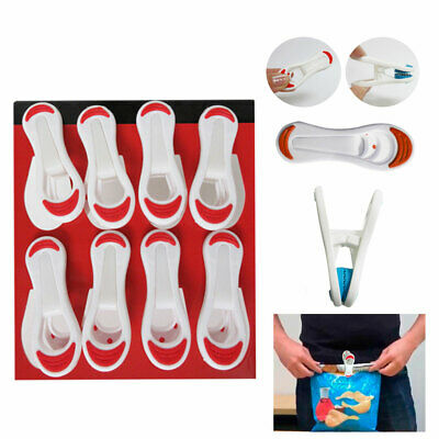 10PC Kitchen Chip Snack Food Storage Sealing Bag Clips Clamps Multipurpose Craft