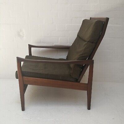 Vintage Mid Century Modern Teak Armchair by Cintique for Reupholstery (London)