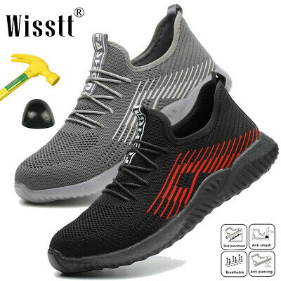 Mens Steel Toe Cap Lightweight Safety Shoes Work Boots Sports Hiking Trainers UK