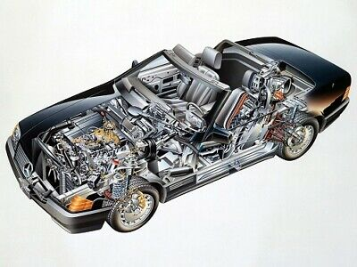 A3 Toyota Land Cruiser 1989 Cutaway Drawing Wall Poster Art Picture Print