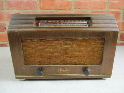 Vintage Temple Tube Radio Model E-514 For Parts Or Repair