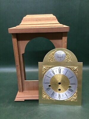 Unfinished Mantel Clock Solid Wood w/ Brass Tempus Fugit Clock Face DIY Project
