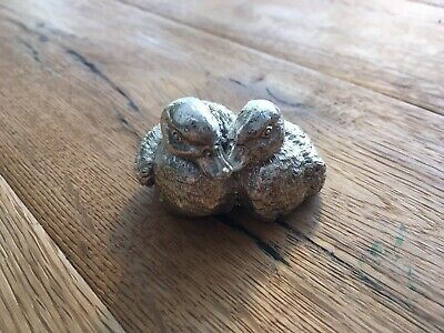 Alesandro Magrino 925 Sterling Silber Enten Ente Paperweight Silver