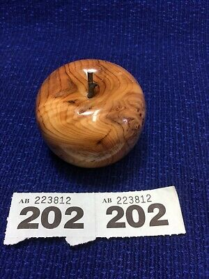 Wooden /wood Apple Yew  Ornament Ab202/s5