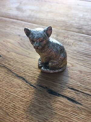 Alesandro Magrino 925 Sterling Silber Katze Cat Paperweight Silver