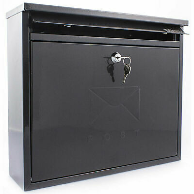 Sterling Elegance Post Box Weather Resistant with 2 Keys in BLACK
