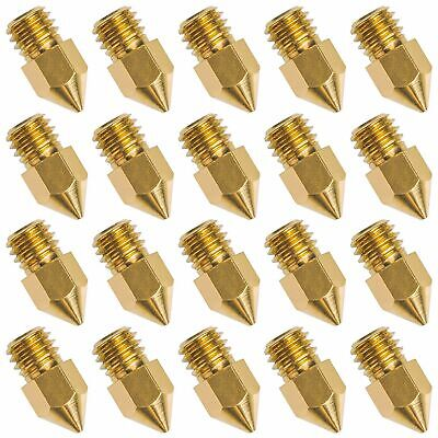 20 PCS 3D Printer Nozzle 0.4mm MK8 Extruder Head for Creality Cr10 R3G7