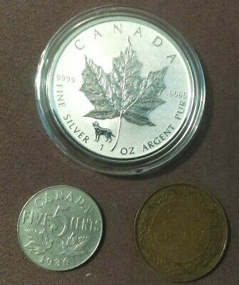 2018 Canada 1 oz Silver Maple Leaf Reverse Proof Dog Privy! (Read For Details)