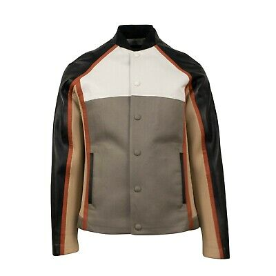 d36427720 NWT VALENTINO Black/Multi-Color Wool And Leather Jacket Size 46/36 $3350