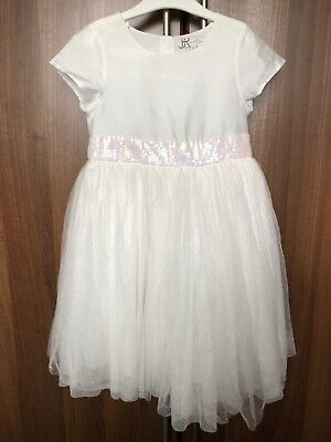 9x2 and 10 GIRLS BRIDESMAID // PARTY DRESS AGES 4 GOLD AND IVORY BHS