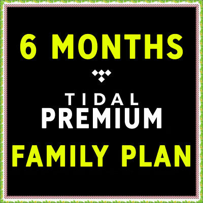 TIDAL Premium FAMILY PLAN - 6 Months - 6 Users - GLOBAL