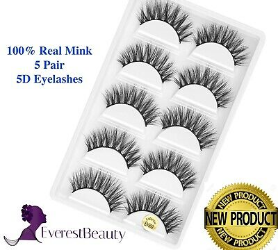 3D Mink Eyelashes Luxury 5 Pairs Wispy Thick False Long Layered Lashes Makeup UK