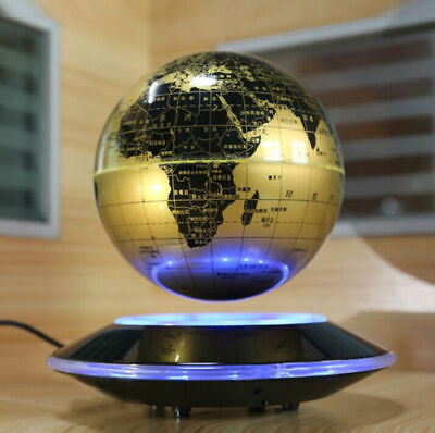 "8"" Magnetic Floating Globe Levitation Maglev Levitating World Map LED"