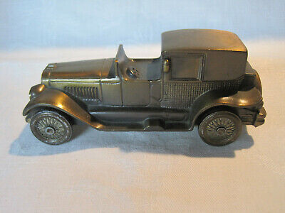 Vintage metal still bank Lincoln Brougham 1927 car bank by Banthrico