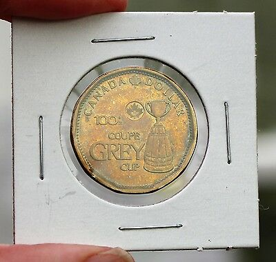 2012 Canada One Dollar $1 Loonie 100th Anniversary of the Grey Cup Circulated
