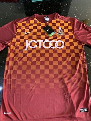 Nike Bradford City Football Shirt 15/16 New Size Large , XL Or XXL