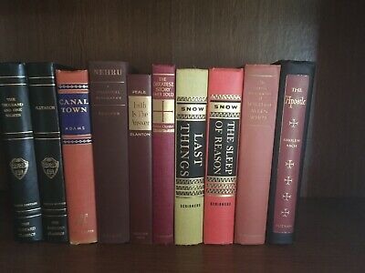 VINTAGE BLACK DECORATIVE Books~Gold-Colored Lettering~Ships