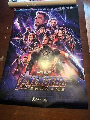 Marvel Avengers Endgame final theatrical one sheet poster 27x40